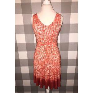 Athleta Reef Print flared dress
